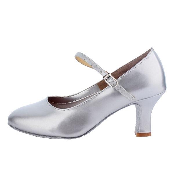 Dámské Koženka Na podpatku Lodičky znakové boty Taneční boty