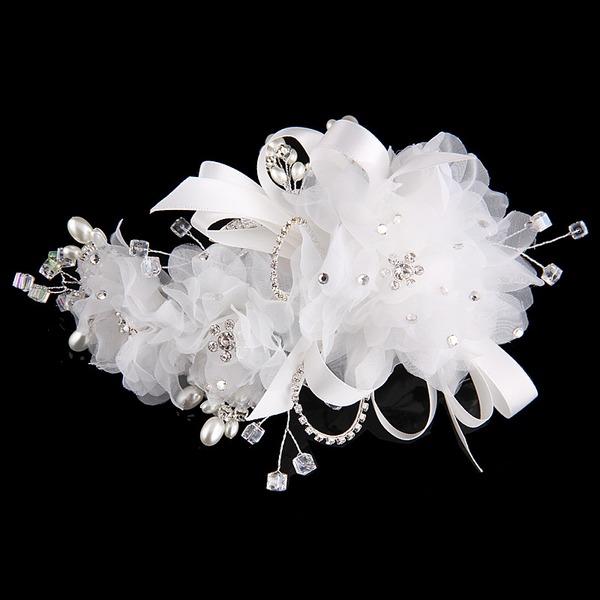 Специальный горный хрусталь/сплав/Перлы ложный/чистая пряжа/шелковые цветы ободки (Продается в виде единой детали)