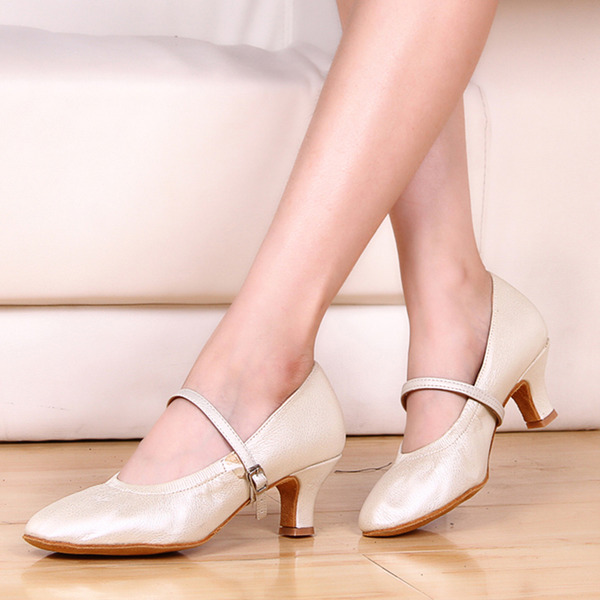 Women's Leatherette Heels Character Shoes With Buckle Dance Shoes