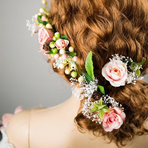 Damen Besondere Seide Blumen Kämme und Haarspangen