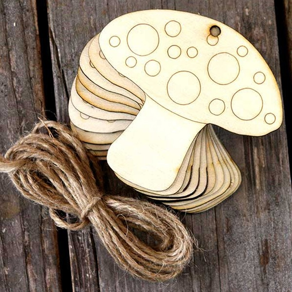 Creative Gifts Classic Mushroom Wooden (Set of 10) Non-personalized Gifts