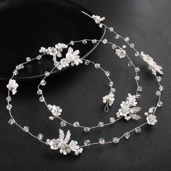 Ladies Rhinestone/Imitation Pearls Headbands