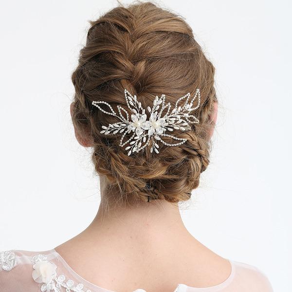 Señoras Elegante Rhinestone/Aleación/La perla de faux Peines y pasador con Rhinestone/Perla Veneciano (Se venden en una sola pieza)