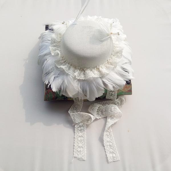 Damen Schöne Baumwolle mit Feder Schlapphut