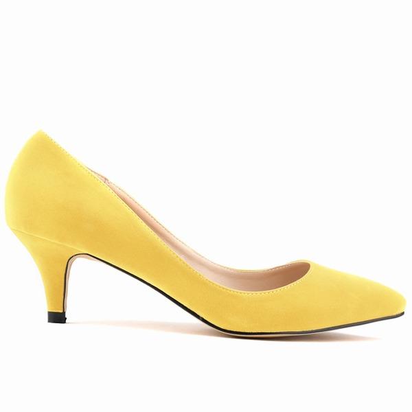 Женщины Замша Низкий каблук (рюмка) На каблуках Закрытый мыс обувь