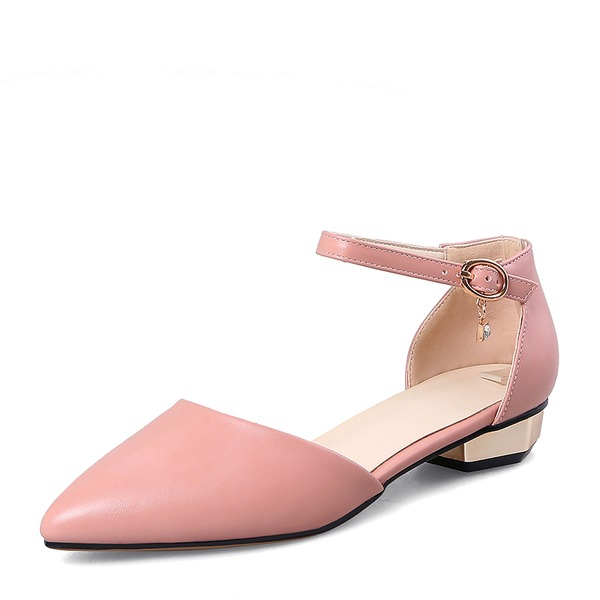 Women's PVC Low Heel Sandals Flats With Buckle shoes