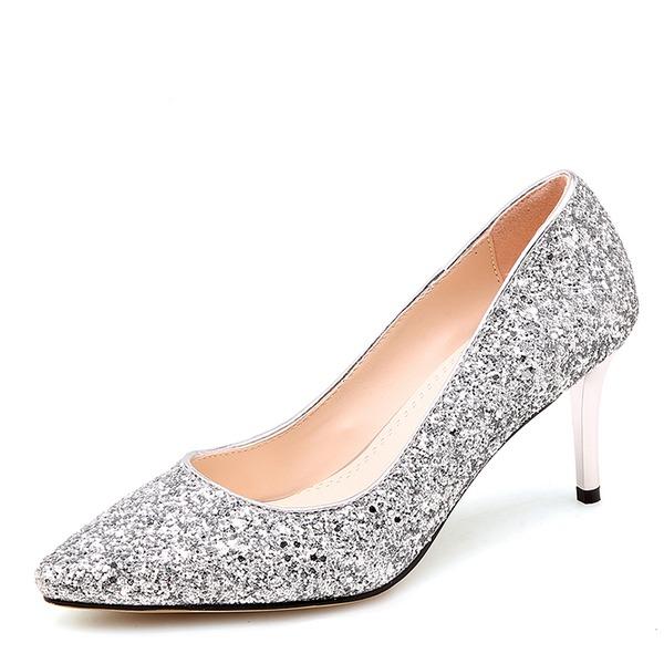 Femmes Pailletes scintillantes Talon stiletto Escarpins Bout fermé avec Autres chaussures