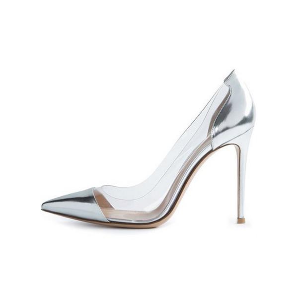 Kvinnor Konstläder PVC Stilettklack Pumps Stängt Toe med Andra skor