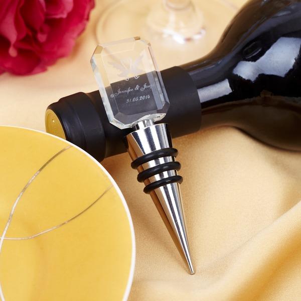 Персонализированные Лебединое дизайн Хром/стекло бутылку пробкой
