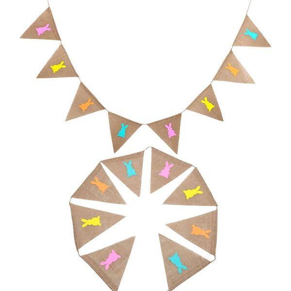 cuerda de cáñamo/Lino Banner (8 piezas)
