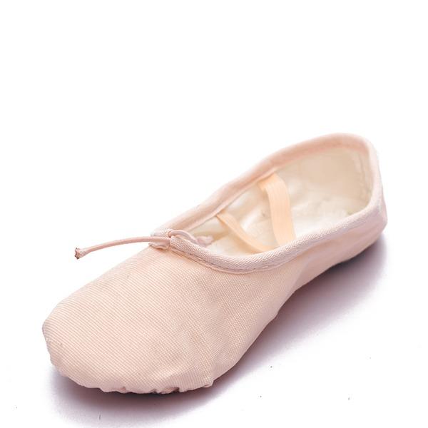 Mulheres Lona Sem salto Balé Dança do ventre Sapatos de dança