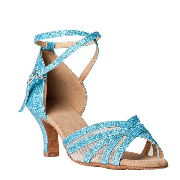 Kadın Köpüklü Glitter Sandalet Latin Dans Ayakkabıları
