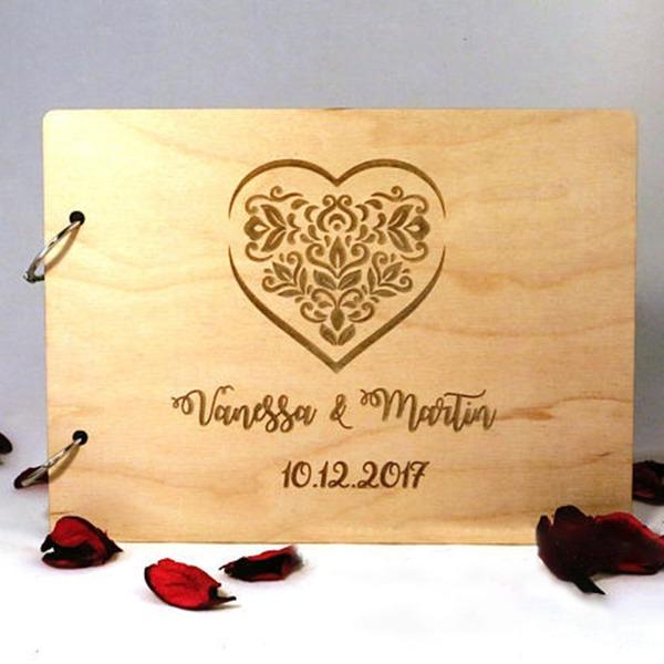 Personalizované designu Dřevo Kniha hostů