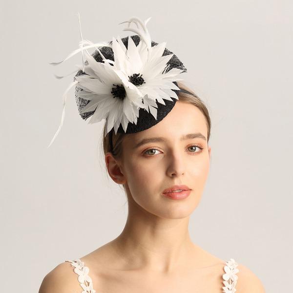 Dames Mode/Spécial/Glamour/Élégante/Unique/Fantaisie/Romantique/Style Vintage/Artistique Batiste/Feather Chapeaux de type fascinator