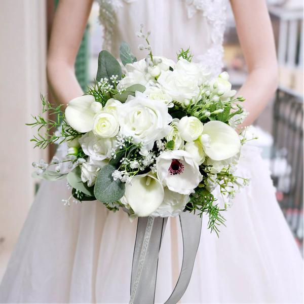 Güzel yuvarlak ipek Çiçek Gelin buketleri - Gelin buketleri