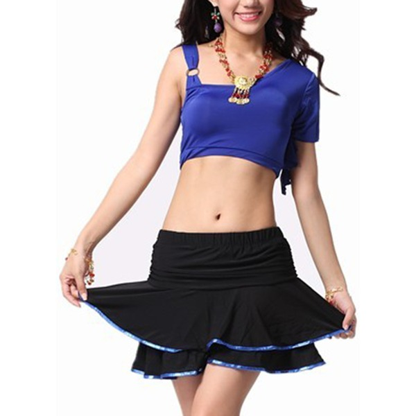 Women's Dancewear Cotton Rayon Latin Dance Tops Skirts