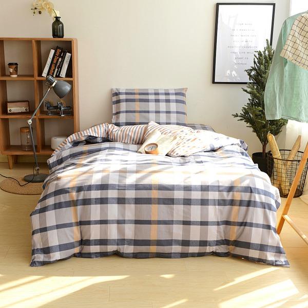 simples elegante clássico Algodão Cama e banho (3pcs: 1 capa de edredão 1 lençol 1 fronha)
