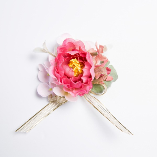 Pretty Free-Form Satin/Fabric Wrist Corsage (Sold in a single piece) -