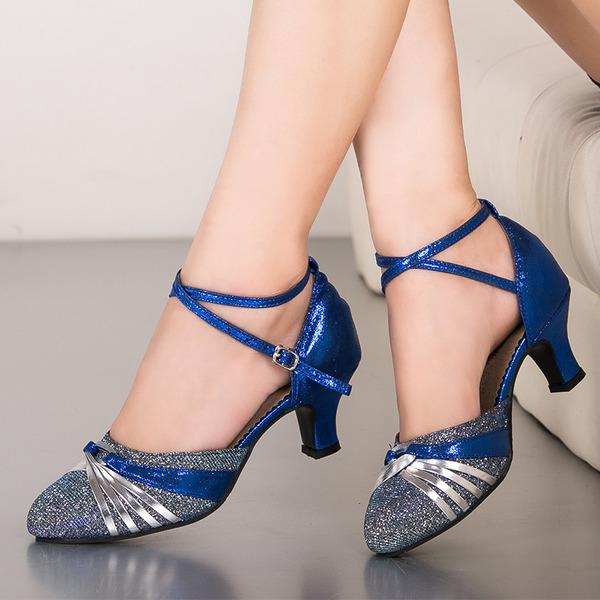 De mujer Brillo Chispeante Danza latina Sala de Baile Zapatos de danza