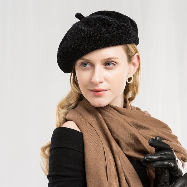 Damer' Glamorösa/Romantiskt/tappning utformar polyester Basker Hat