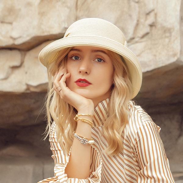 Damer' Härlig/Elegant polyester med Bowknot Beach / Sun Klobúky