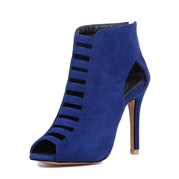 Femmes Suède Talon stiletto Escarpins À bout ouvert avec Autres chaussures