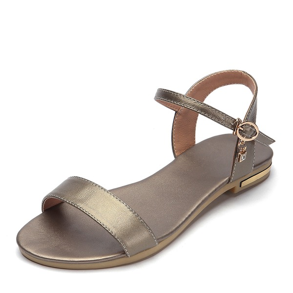 Kadın PU Düz Topuk Sandalet Daireler Ile Toka ayakkabı