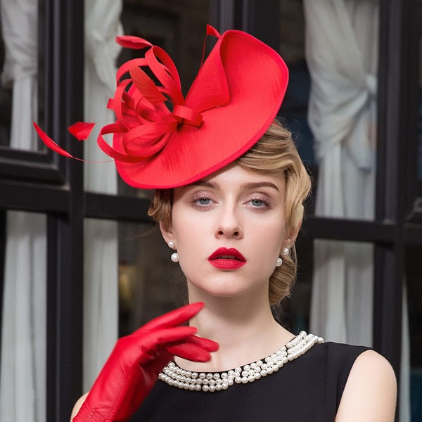 Dames Élégante Batiste Chapeaux de type fascinator/Chapeaux Tea Party
