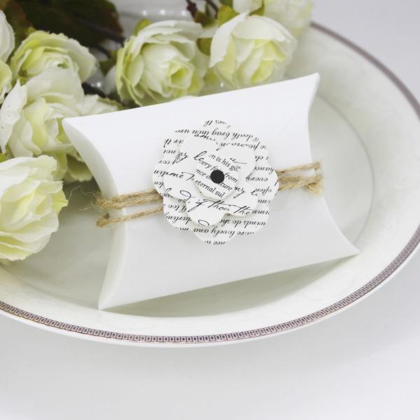 Design de fleur Cubique Carte papier Boîtes cadeaux avec Fleur(s) (Lot de 12)