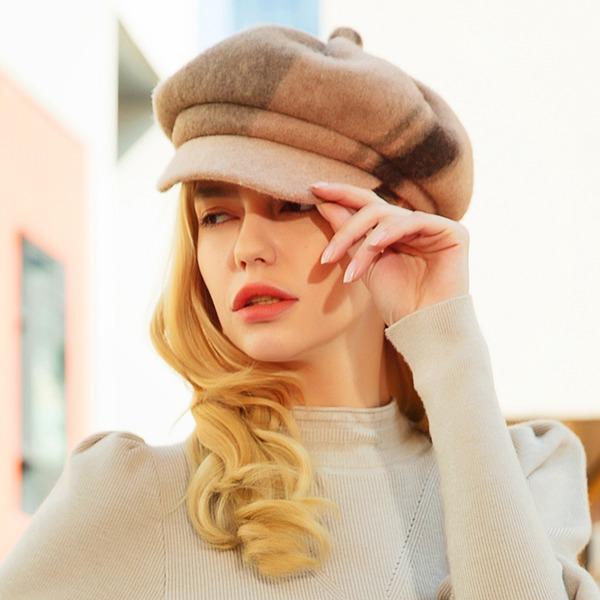 женские Красивая/Элегантные/простой Шерстяные флоппи-Шляпа