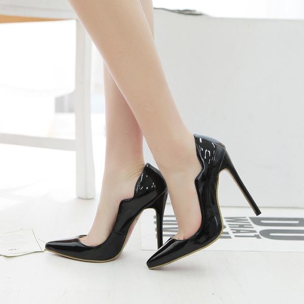 Dla kobiet Skóra Lakierowana Obcas Stiletto Czólenka Zakryte Palce Z Pozostałe obuwie