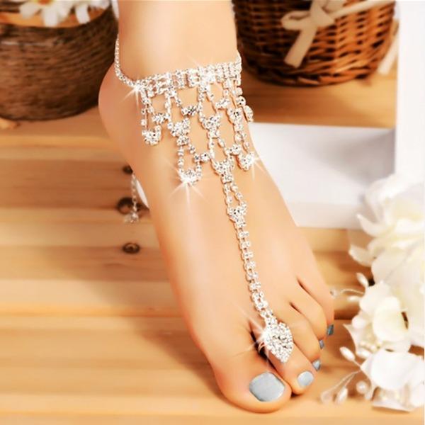 Women's Peep Toe With Pearl Chain