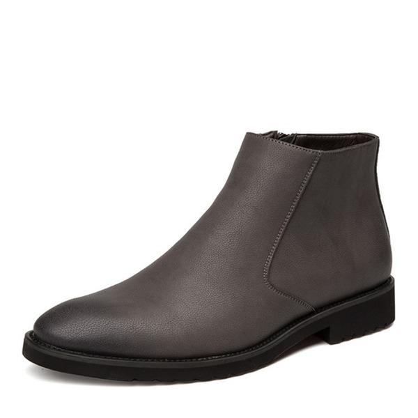 Pánské Mikrovlákno Kůže Chelsea Casual Pánská obuv Boots