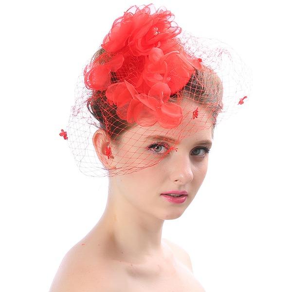 Dames Beau/Magnifique/Charmant/Mode/Spécial Batiste avec Une fleur Chapeaux de type fascinator