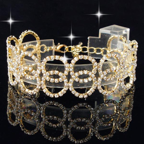 Mode Pierres tchèques En alliage de zinc avec Pierres tchèques Femmes Bracelets de mode (Vendu dans une seule pièce)
