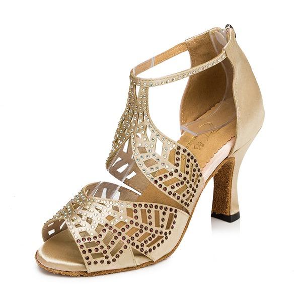 Donna Raso Sandalo Latino con Strass Scarpe da ballo