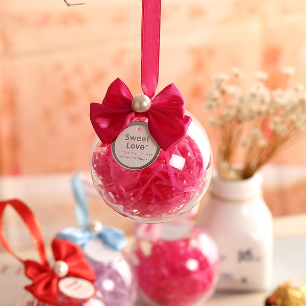 Ball Favor Tin With Bow (Set of 12)