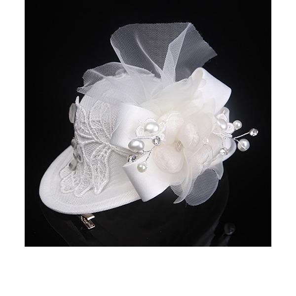 Signore Bella/Gorgeous/Bella/Moda/Speciale/Affascinante/Stile classico/Elegante/Unico/Semplice/Squisito Pizzo/Di faux perla/Tyll con Di faux perla Fascinators