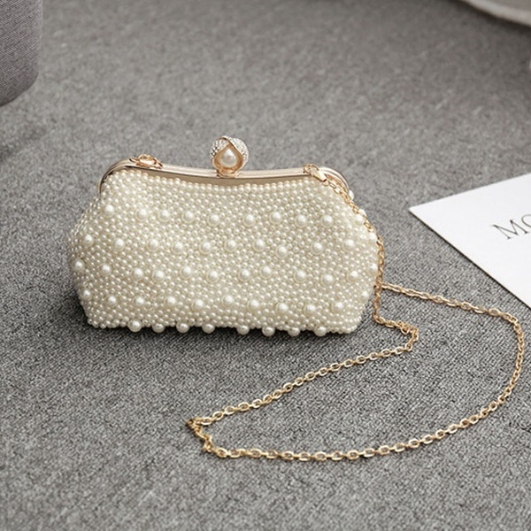 Elegant Pearl Clutches/Satchel
