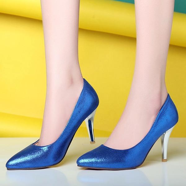 Dla kobiet Skóra ekologiczna Obcas Stiletto Czólenka Zakryte Palce Z Pozostałe obuwie