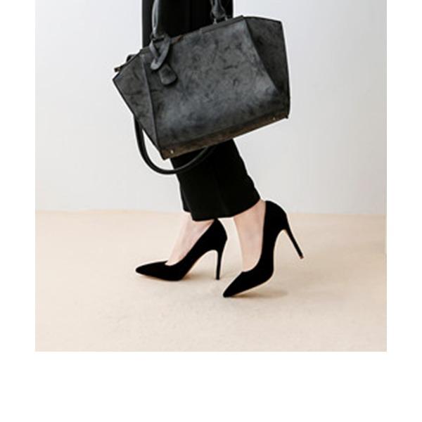Femmes Velours Talon stiletto Escarpins Bout fermé chaussures