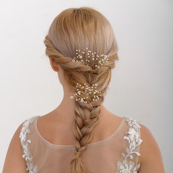 Abbigliamento donna Unico lega Pettine & clip di capelli con Perla Veneziano (Set di 2)