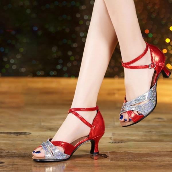Women's Leatherette Sparkling Glitter Latin Dance Shoes