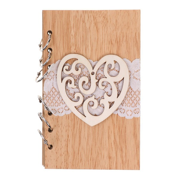 Wooden wedding cutout Roman notebook(Sold in a single piece)