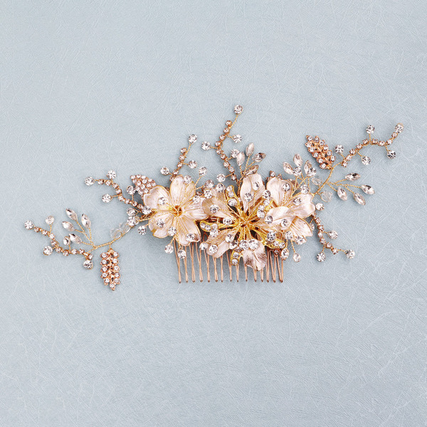Beautiful Rhinestone/Alloy/Copper Combs & Barrettes With Rhinestone (Sold in single piece)