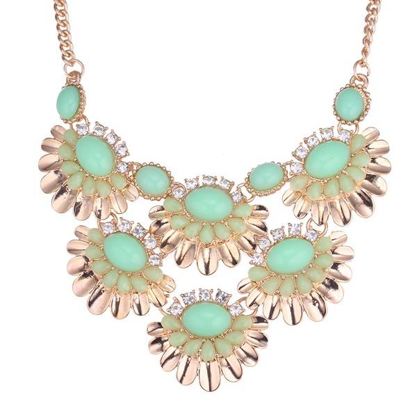 Fashional Alloy Rhinestones Resin Ladies' Fashion Necklace