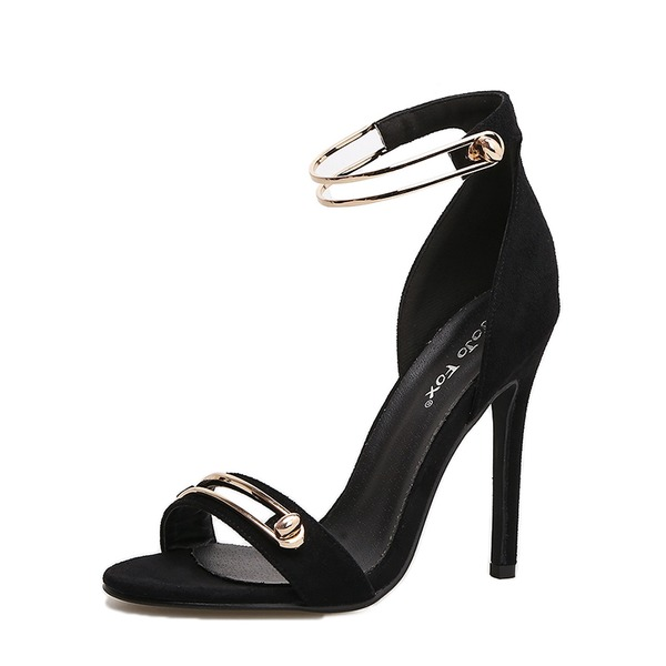 Femmes Similicuir Talon stiletto Escarpins À bout ouvert chaussures