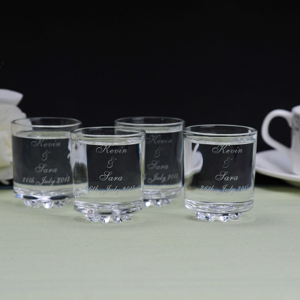 Personalized Simple Design Glass Cup (Set of 6)
