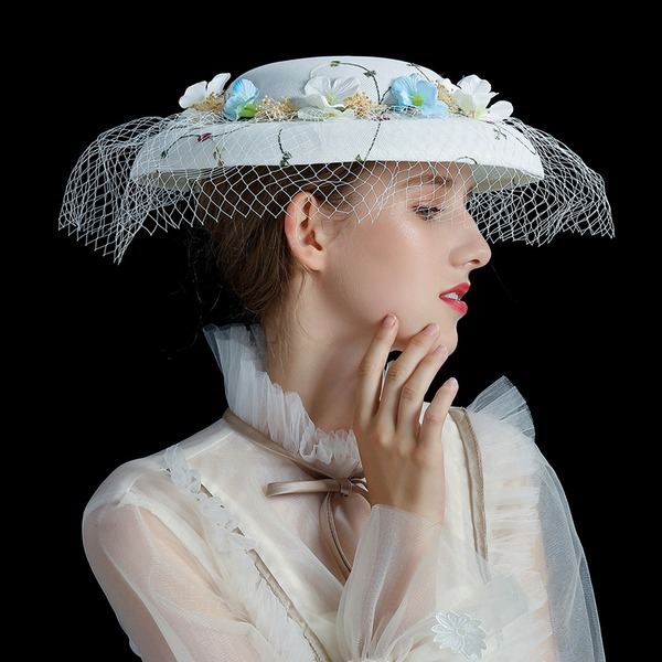 Signore Bella/Moda/Fantasia Filato netto con Tyll Fascinators