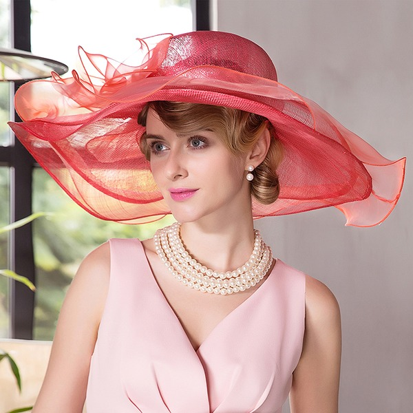 Damen Schöne/Prächtig/Mode/Glamourös/Klassische Art/Elegant Batist Strand / Sonne Hüte